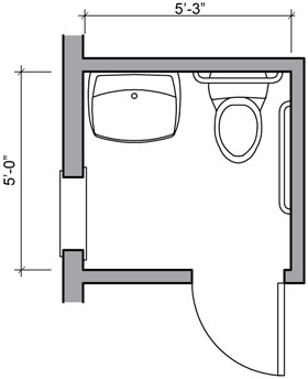Bathroom floor plans bathroom floor plan design gallery for Half bath floor plans
