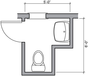 Bathroom Floor Plans on Accessible Bathroom Floor Plans   Find House Plans