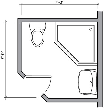 Small bathroom floor plans 5x5 folat 5x5 closet layout