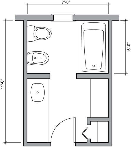 Pin Small Bathroom Designs Floor Plans For 5 X 8 on Pinterest