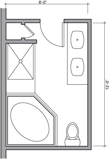 Bathroom shower floor plans find house plans for 8x12 bathroom ideas